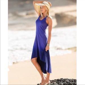 Athleta Purple/Blue Dye Ombré Middy High Low Dress